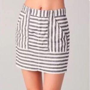 Madewell Broadway & Broome Striped Skirt
